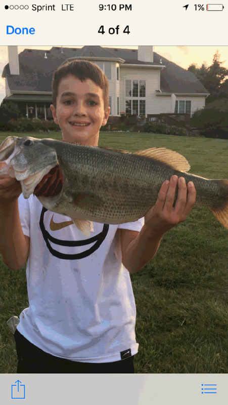 Largemouth Bass's Trophy Image'